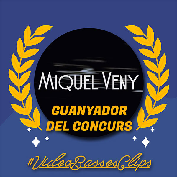 Miquel Veny guanyador del concurs #videobassesclips